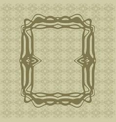 art nouveau smooth lines decorative rectangle vector image vector image