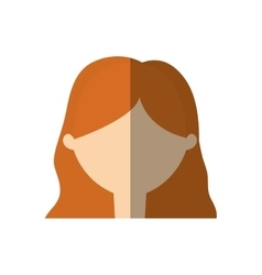 Avatar woman face young person shadow vector