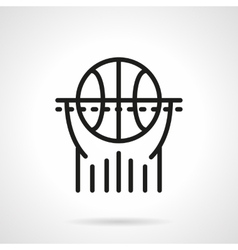 Basketball black line icon vector