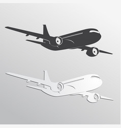 Black and white airplane39s silhouettes vector