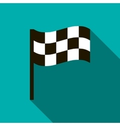 Chequered flag icon flat style vector