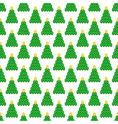 Cristmas tree pattern vector image vector image