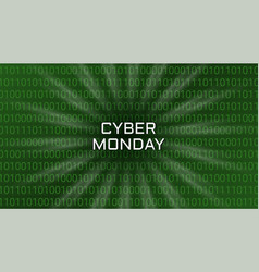 cyber monday abstract technology background vector image
