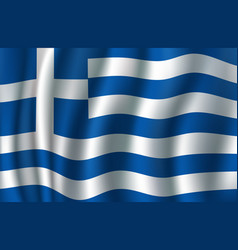 flag of greece 3d greek blue white banner vector image vector image