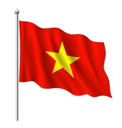 Flag of vietnam vector