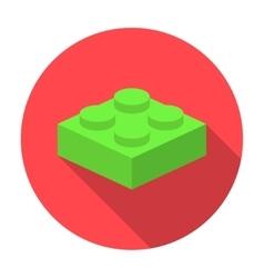 flat constructor block icon vector image vector image