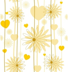 Floral romantic seamless background vector image vector image
