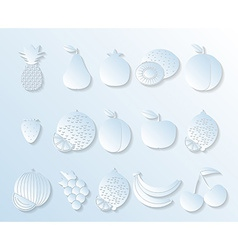 Fruit icon in paper style The image of fruits and vector image
