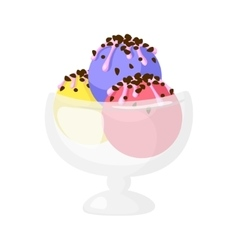 Funny cartoon cute ice cream Isolated vector image vector image