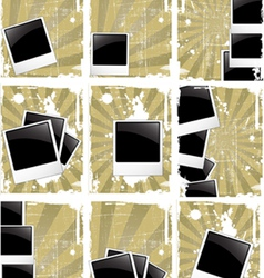 Grunge style photo frames vector
