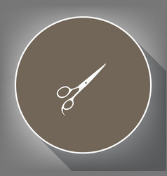 hair cutting scissors sign white icon on vector image vector image