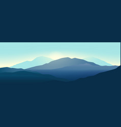mountains landscape in beautiful colors vector image