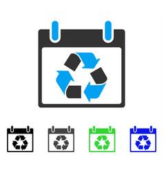 Recycle calendar day flat icon vector