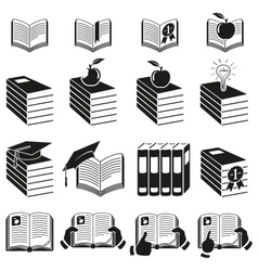 Set of icons of books vector