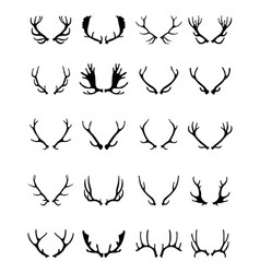 silhouettes of deer horns vector image