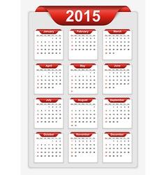 Simple calendar 2015 year vector