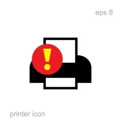 Simple Printer Error Icon vector image vector image
