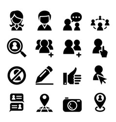 social network icon vector image