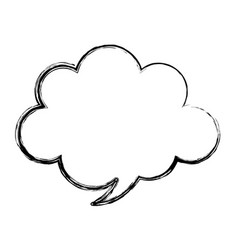 speech bubble message isolated icon vector image