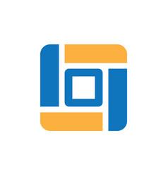 square business icon logo vector image