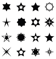 Star icon set vector