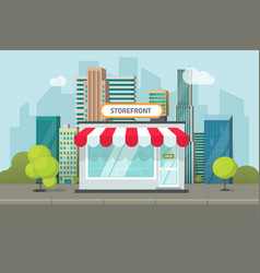 Storefront in city store vector