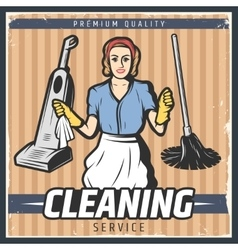Vintage Cleaning Poster vector image