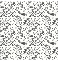 Hand drawn winter season seamless pattern vector