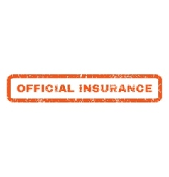 Official insurance rubber stamp vector
