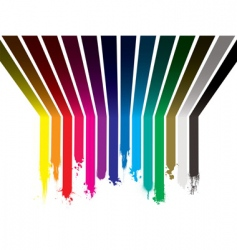 Rainbow paint dribble vector