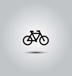 bicycle icon on white vector image