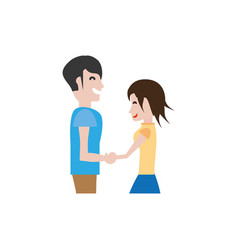 Couple hands holding romantic image vector