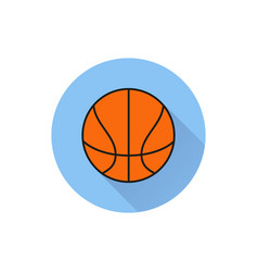 basketball ball outline in white background vector image
