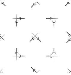 pair of sai pattern seamless black vector image