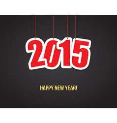 2015 New year background vector image vector image