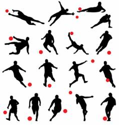 football silhouettes vector image