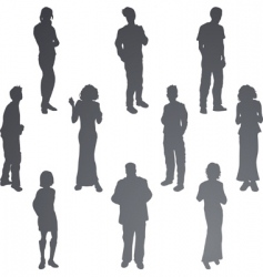 friends silhouettes vector image