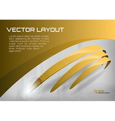 Stripes gold vector