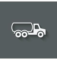 Fuel truck symbol vector