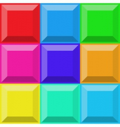 3D tiles vector image vector image