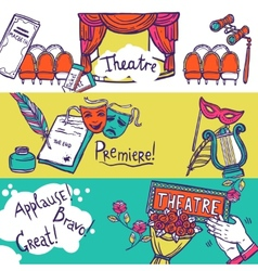 Theatre banner set vector