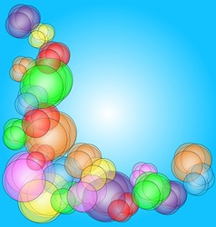 Fun bubble corner vector