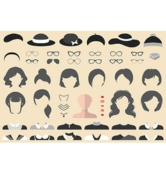 Vintage style design elements and icons vector
