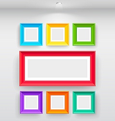 Gallery interior with empty colorful vector