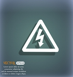 Voltage icon symbol on the blue-green abstract vector