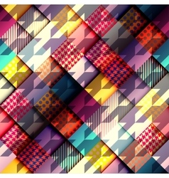Geometric diagonal background with hounds-tooths vector