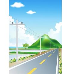Landscape road trip vector