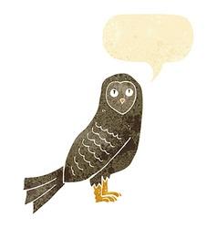 cartoon owl with speech bubble vector image