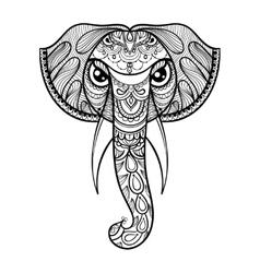 ornamental head of Elephant ethnic vector image