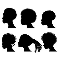 afro american young woman face black vector image